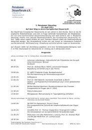 3. Potsdamer Steuertag - Steuerberaterverband Berlin-Brandenburg