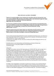 BGH Entscheidung - Steuerberaterverband Berlin-Brandenburg