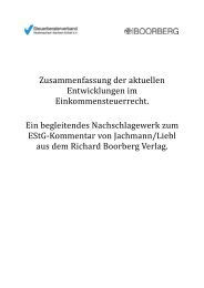Einkommensteuerrecht - Steuerberaterverband Berlin-Brandenburg