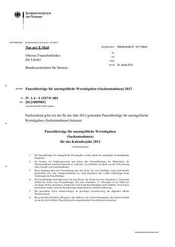 (Sachentnahmen) 2012 - Steuerberaterverband Berlin-Brandenburg