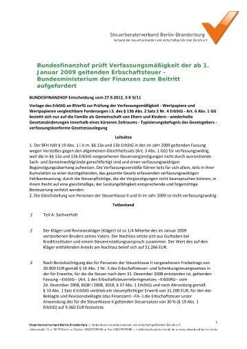 Verfassungsmäßigkeit - Steuerberaterverband Berlin-Brandenburg