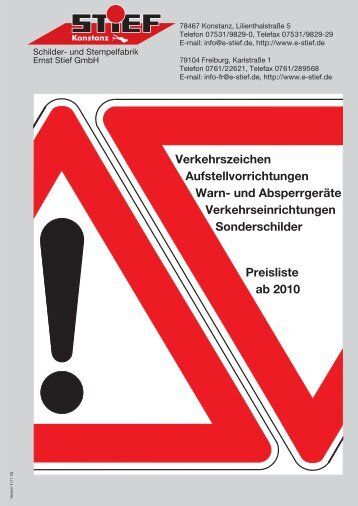Verkehrszeichen Aufstellvorrichtungen Warn - Stief Schilder Stempel