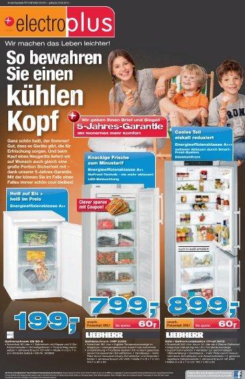 """Prospekt electroplus PLAG KW31-2014 """"So bewahren Sie einen kühlen Kopf!"""""""