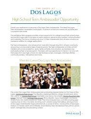 High School Teen Ambassador Opportunity