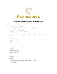 Akamai Scholarship Application