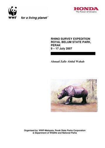 RHINO SURVEY EXPEDITION ROYAL BELUM ... - WWF Malaysia