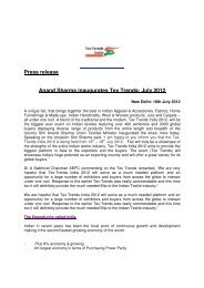Press release Anand Sharma inaugurates Tex Trends- July 2012