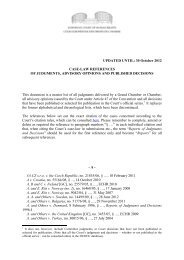 Case-law references of judgments, advisory opinions and