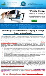 Web Design and Development Company in Orange County at Your Service