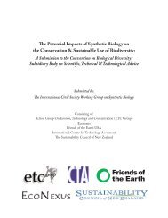 e Potential Impacts of Synthetic Biology on the ... - ETC Group