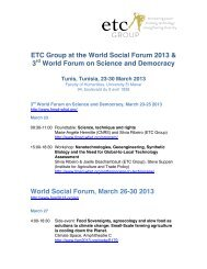 ETC Group at the World Social Forum 2013 & 3 World Forum on ...