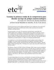 Termina la primera ronda de la competencia para ... - ETC Group