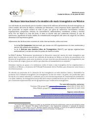 Rechazo Internacional maiz transgenico MEX.pdf - ETC Group
