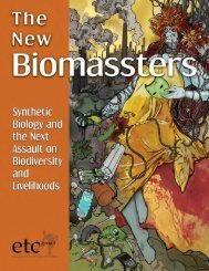 The New Biomassters - Convention on Biological Diversity