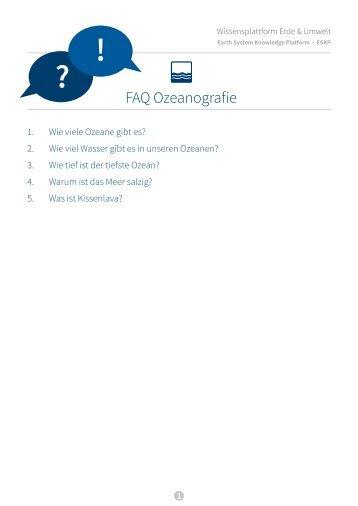 FAQ Ozeanografie