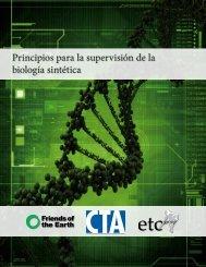 Principios para la supervisión de la biología sintética - Amazon Web ...