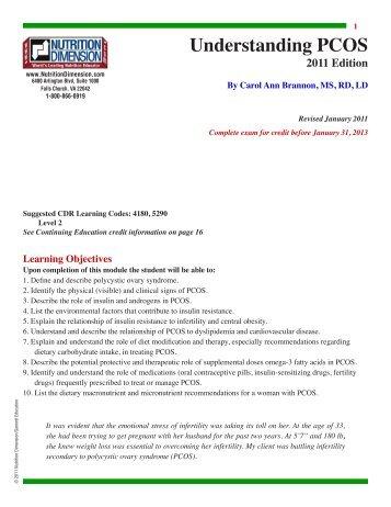 Understanding PCOS - Nutrition411.com