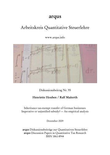 Inheritance tax-exempt transfer of German businesses - Institut für ...