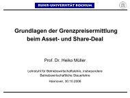 Vortrag Prof. Dr. Heiko Müller - Institut für Betriebswirtschaftliche ...