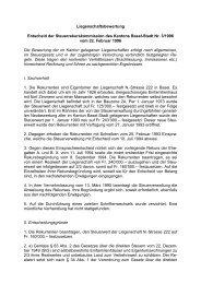 Liegenschaftsbewertung Entscheid der Steuerrekurskommission ...
