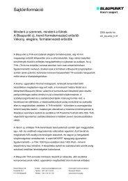 Sajtóinformáció (61 kB) - Bosch