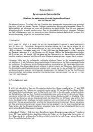 Rekursverfahren Berechnung der Rechtsmittelfrist Urteil des ...