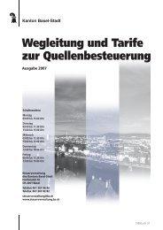 Wegleitung und Tarife zur Quellenbesteuerung - Steuerverwaltung ...