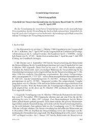 Grundstückgewinnsteuer Mitwirkungspflicht Entscheid der ...