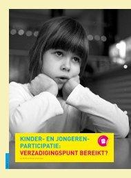 Kinder-en jongerenparticipatie: verzadigingspunt ... - Steunpunt Jeugd