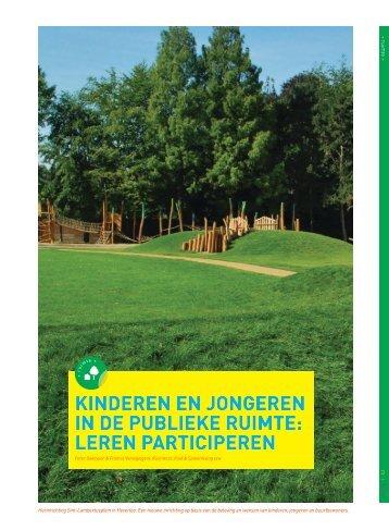 Kinderen en jongeren in de publieke ruimte:leren ... - Steunpunt Jeugd
