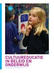 Cultuureducatie in beleid en onderwijs (pdf) - Steunpunt Jeugd