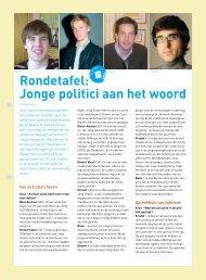 Rondetafel: Jonge politici aan het woord (pdf) - Steunpunt Jeugd