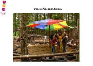 Speelplein Weyneshof, Rijmenam (pdf, 671KB) - Steunpunt Jeugd