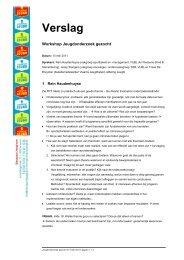 Verslag - Steunpunt Jeugd