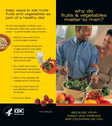 Why Do Fruits and Vegetables Matter to Men brochure