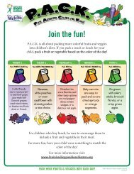 Fruit & Veggie Reminder Posters - Fruits and Veggies More Matters