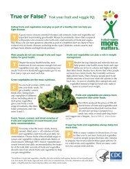 True or False? Test your fruit and veggie IQ - Fruits & Veggies More ...