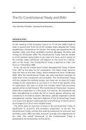 The EU Constitutional Treaty and EMU