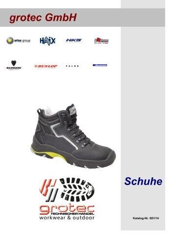 grotec GmbH Schuhe Lagerprogramm