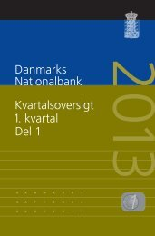 Danmarks Nationalbank Kvartalsoversigt 1. kvartal Del 1