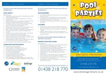 Oak Meadow Swim Club Pool Party