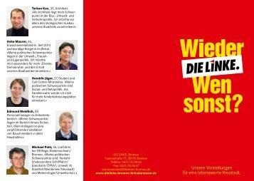 Unsere Vorstellungen für eine lebenswerte ... - DIE LINKE in Bremen