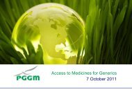 Access to Medicines for Generics 7 October 2011
