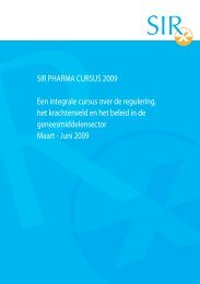brochure - SIR Institute for Pharmacy Practice and Policy