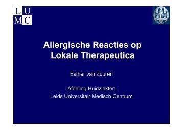 Huidreacties op lokale therapeutica