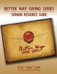 BETTER WAY GIVING SERIES - Stewardship Ministries