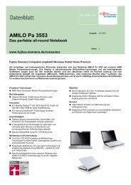 AMILO Pa 3553 Das perfekte all-round Notebook