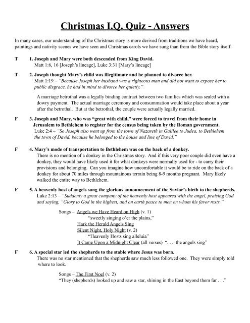 to download a printable answer key - Stewardship Ministries