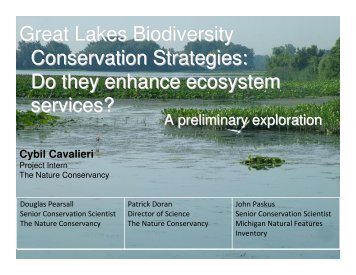 Great Lakes Biodiversity Conservation Strategies - Restoring Native ...
