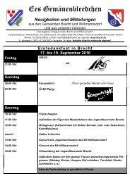 Erntedankfest in Brecht 17. bis 19. September ... - BRECHT.DE online